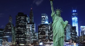 NYC-at-Night-with-Statue-of-Liberty